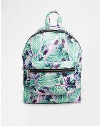 Asos Floral Scuba Backpack - Lyst