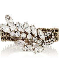 Elizabeth Cole Gold-Plated Crystal Bracelet - Lyst