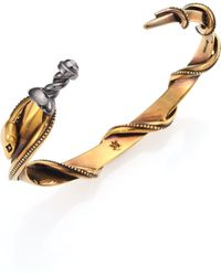 Alexander McQueen | Punk Two-tone Snake & Dagger Cuff Bracelet | Lyst