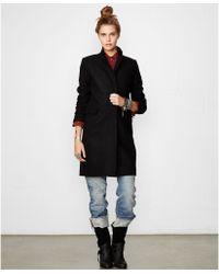 Denim & Supply Ralph Lauren Velveteen-trim Walker Coat - Lyst
