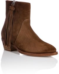 Ralph Lauren Collection Suede Boots - Lyst