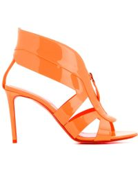 Nicholas Kirkwood Patent Leather Sandals orange - Lyst