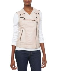 Bagatelle Leather Motorcycle Vest - Lyst
