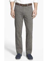 Tommy Bahama 'Baja' Five-Pocket Cotton & Linen Pants blue - Lyst