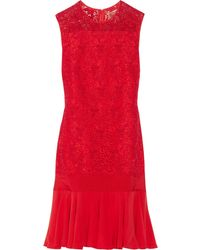 Giambattista Valli Lace and Silkcrepe Dress - Lyst