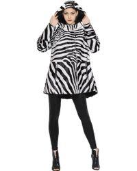 Rizal - Zebra Printed Kidskin Coat - Lyst