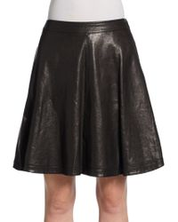 Diane Von Furstenberg Riley Aline Leather Skirt - Lyst