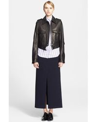 J.W. Anderson Nappa Leather Biker Jacket - Lyst