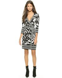 Diane Von Furstenberg Tallulah Wrap Dress - Flower Ikat Black - Lyst