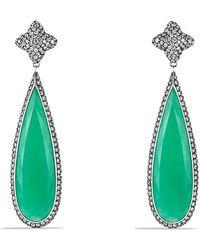 David Yurman Quatrefoil Drop Earrings With White Gold - Lyst