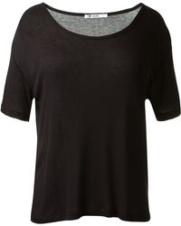 T By Alexander Wang Black Tshirt - Lyst