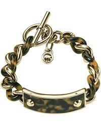 Michael Kors Twisted Plaque Bracelet - Lyst