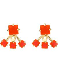 Vince Camuto Colored Square Ear Jacket Earrings - Lyst