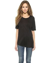 Cheap Monday Tuck Tee - Black - Lyst