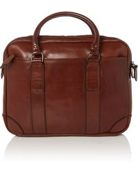 Polo Ralph Lauren - Leather Briefcase Bag - Lyst