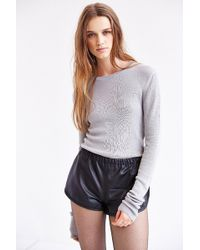 Kimchi Blue - Fitted Cropped Sweater - Lyst