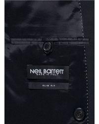 Neil Barrett Peak Lapel Virgin Wool Blend Blazer - Lyst