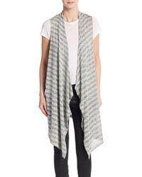 Bobeau - Knit Stripe Vest - Lyst