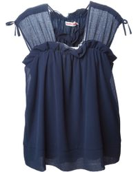 See By Chloé Ruffle Detail Top - Lyst
