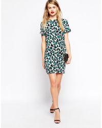 Asos Animal Print Shift Dress - Lyst