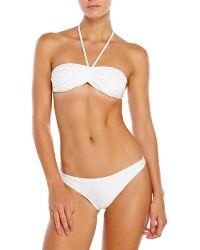 Aquascutum White Crochet Halter Bikini - Lyst