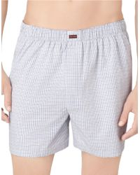 Calvin Klein Checked Boxer Shorts - Lyst