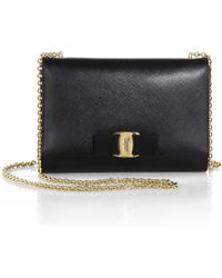 Ferragamo | Convertible Leather Shoulder Bag | Lyst