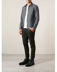 Dondup Checked Zipped Shirt Jacket - Lyst