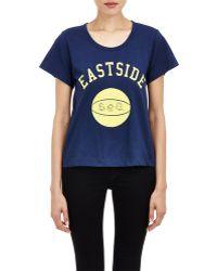 "Sea Eastside"" T-Shirt blue - Lyst"