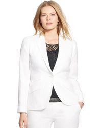 Ralph Lauren Silk-Linen Jacket - Lyst