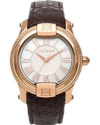 ESCADA Women'S Swiss Madelene Brown Leather Strap Watch 38Mm Iww-E3330053 - Lyst