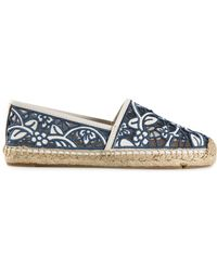 Tory Burch Lucia Leather Espadrilles - Lyst