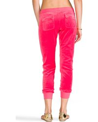 Juicy Couture - J Bling Slim Comfy Pant in Coral - Lyst