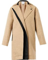 Atto Single-Breasted Textured-Wool Coat - Lyst