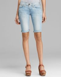 True Religion Shorts Savannah Knee Length Cuffed in Breezy Meadow - Lyst