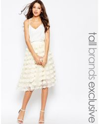 True Decadence - 3d Applique Tulle Prom Skirt - Lyst