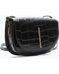 Zara Crocpattern Messenger Bag - Lyst