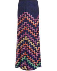 Missoni Lurex Zz Long Skirt - Lyst