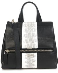 Givenchy Pandora Pure Small Snakeskin Shoulder Bag black - Lyst