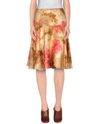 John Galliano Knee Length Skirt pink - Lyst