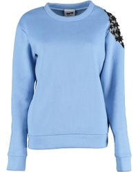By Sun - Shoulder Flowers Lace Sweatshirt - Lyst