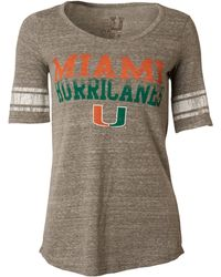MYU Apparel - Women's Short-sleeve Miami Hurricanes Sequin T-shirt - Lyst