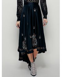 Free People | Lotta Stensson X Womens Embroidered Circle Cascade Skirt | Lyst