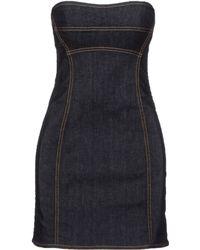 DSquared2 Blue Short Dress - Lyst