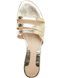 Chelsea Paris - Light Gold Raya Sandals - Lyst