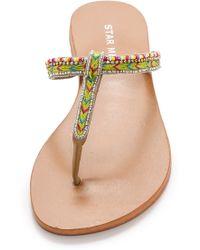 Star Mela - Tabby Beaded Thong Sandals - Green - Lyst