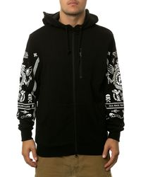 Crooks And Castles The Black Order Zip Up Hoodie - Lyst