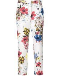 Erdem - Floral Print Crepe Trousers - Lyst