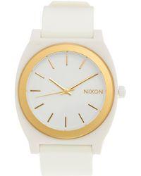 Nixon Time Teller P White Watch - Lyst
