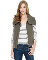 Splendid Bridger Quilted Moto Vest - Lyst